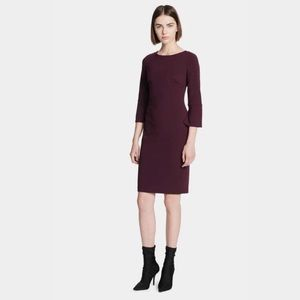 Calvin Klein Slit Bell Sleeve Sheath Dress